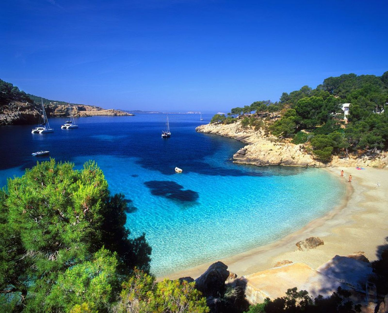 Cala Salada is one of the best sandy coves with crystal